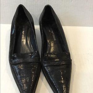 EMPORIO ARMANI Black Women's Loafers
